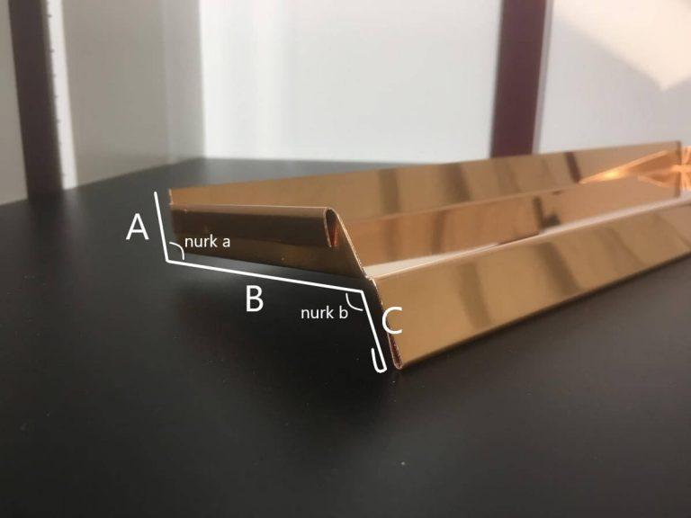 Aknaplekk vask joonis mõõtude võtmiseks tellimuse esitamiseks